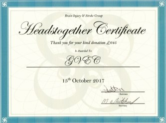 Headstogether certificate