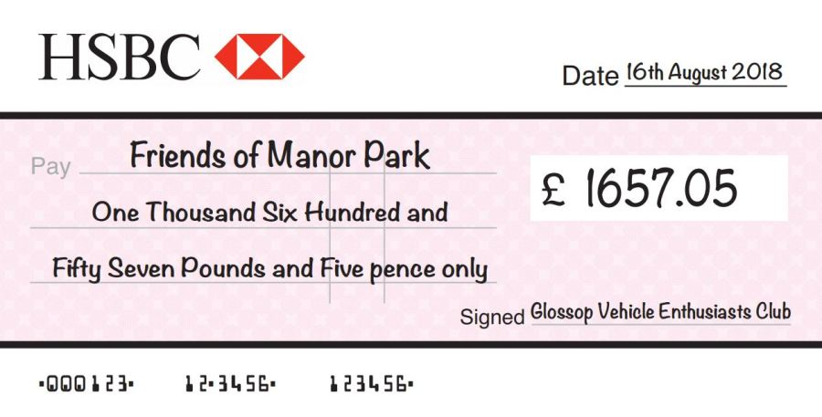 cheque for FOMP