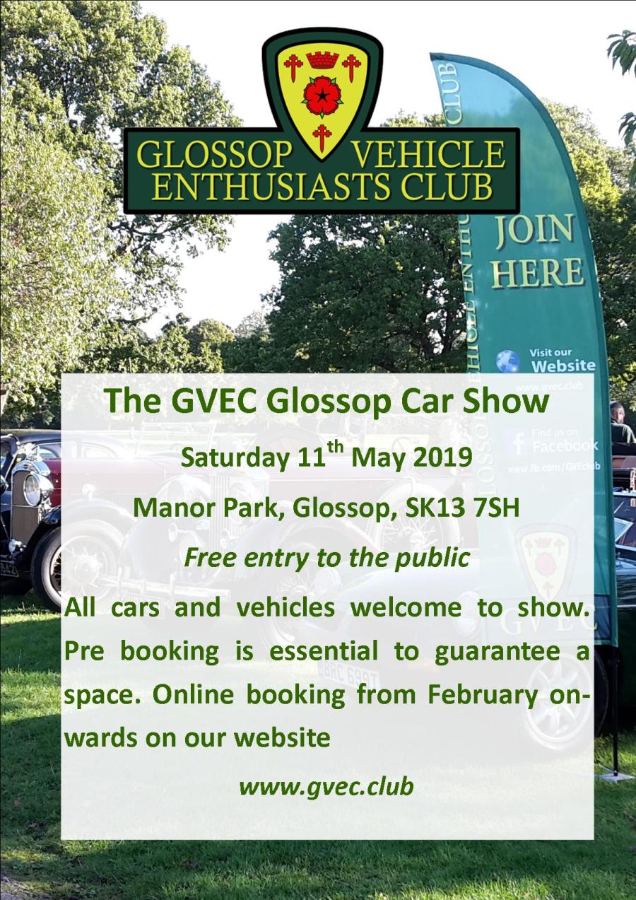 Glossop Car Show May 2019 Poster