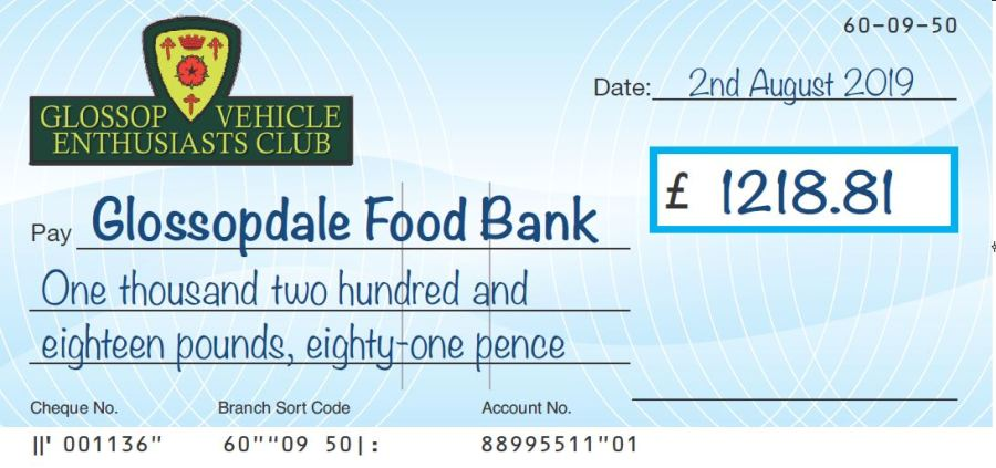 Foodbank cheque