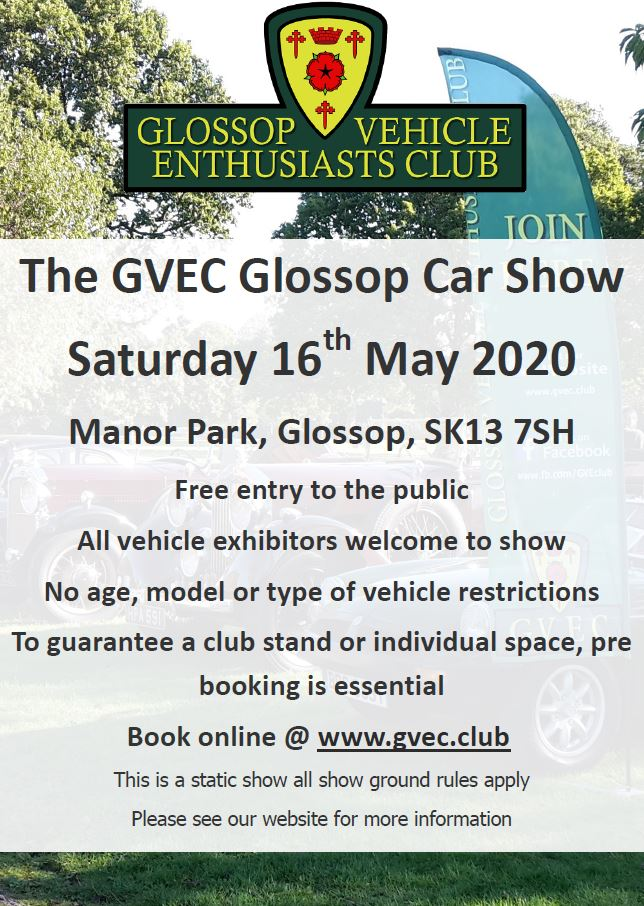 Glossop Car Show May 2020 Poster Rev 2